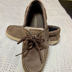 SPERRY KIDS TOP SIDER BOAT SHOE - chocolate